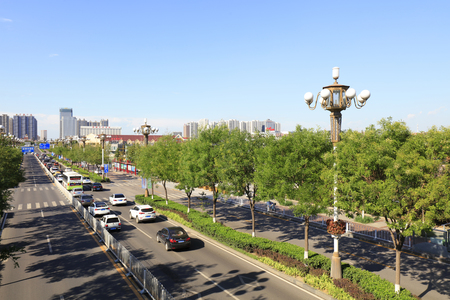 hebei: Tangshan cityscape, hebei province, China