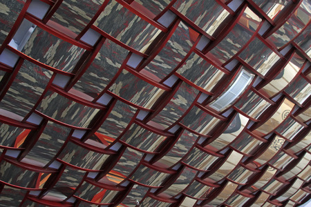 reflective: Wooden frame reflective texture structure Stock Photo