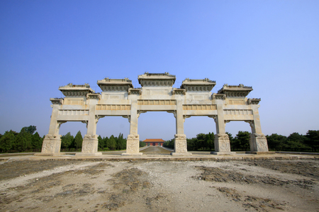 stone archway building landscape Stock Photo