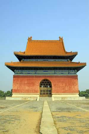 Chinese ancient architectural landscape in Eastern Royal Tombs of the Qing Dynasty,China Editorial