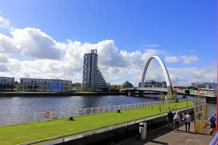 glasgow: Clyde river scenery of Glasgow, Glasgow, UK.