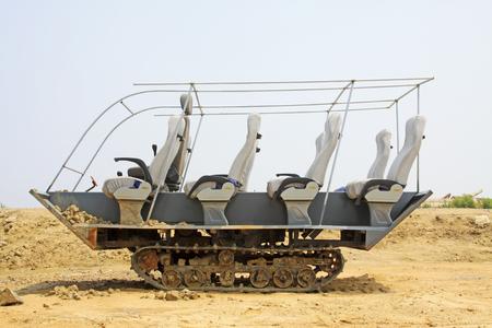 Tourist transportation vehicles in a park 版權商用圖片