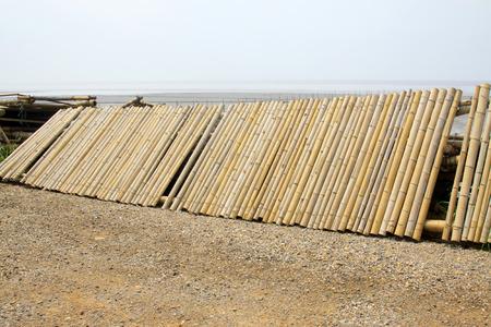 Bamboo split together