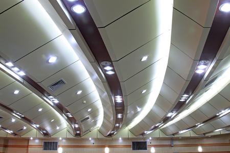 lighting: Auditorium ceiling lighting effects Stock Photo