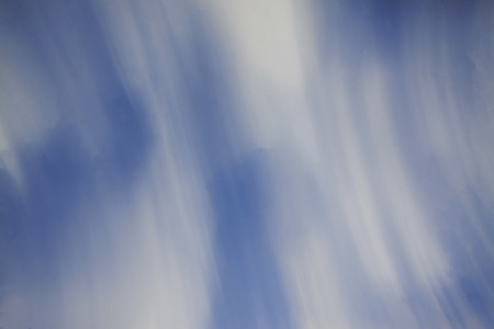 Blue and white clouds in fuzzy