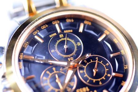 electroplating: watch dial plate Stock Photo