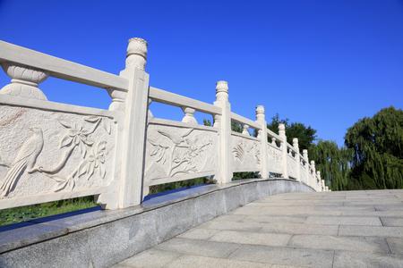 Rock railing Stock Photo