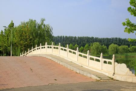 white marble stone bridge Stock Photo - 81417104