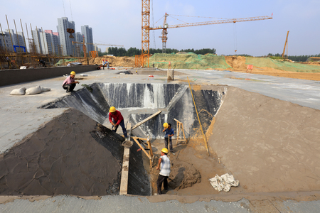 waterproof layer protective engineering in the construction site