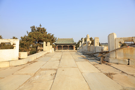 Ancient Chinese traditional architecture Редакционное