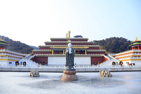 Ancient China Temple Landscape Architecture Stock Photo Picture - Temple landscape architecture