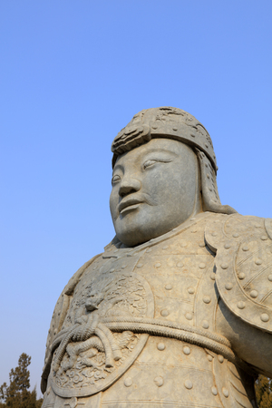 Stone statues of ancient Chinese generals
