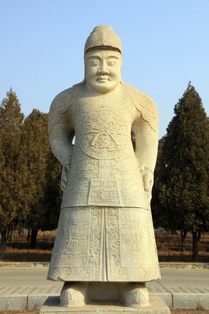 Ancient Chinese general stone statue