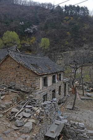 Broken old house in a mountain village