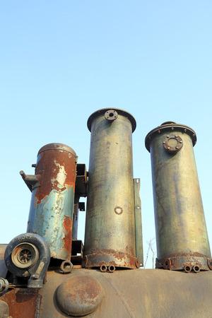 Metal chimneys Stock Photo