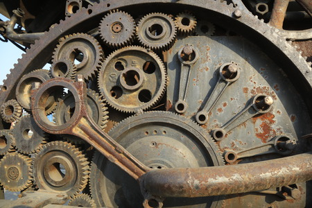 Mechanical gearing Stock Photo