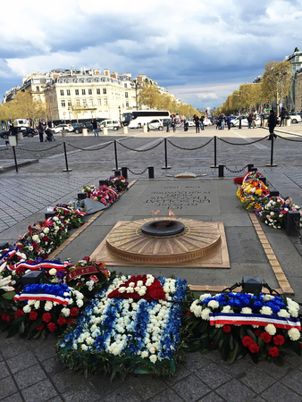 Tomb of the unknown soldier in Triumphal Arch, paris, france