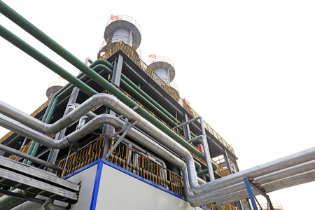 Distillation equipment pipeline