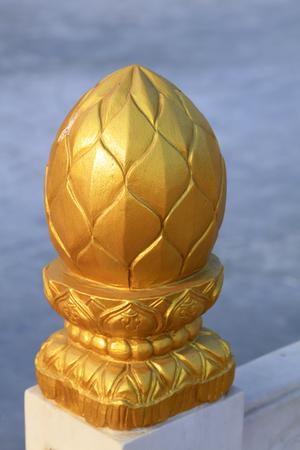 中国の伝統的なスタイルの金箔手すり