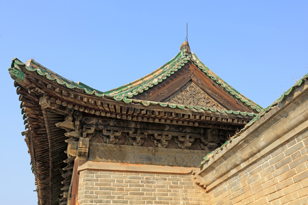 Ancient Chinese traditional architecture 免版税图像