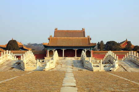 Ancient Chinese traditional architecture Stock Photo