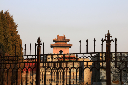 Ancient Chinese architectural landscape Фото со стока
