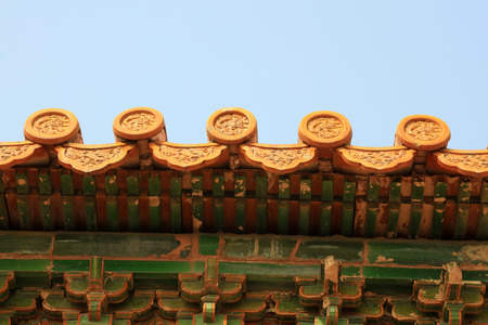 Ancient glazed tile walls in China