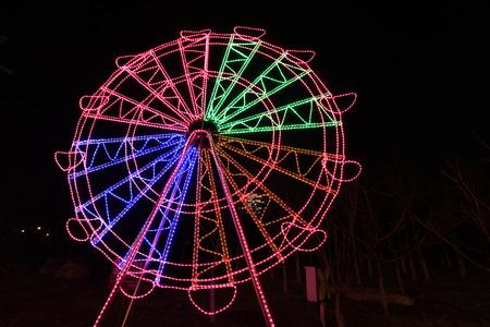 Ferris wheel stretching effect