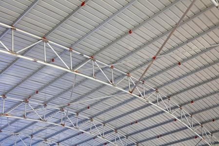 Steel frame roof