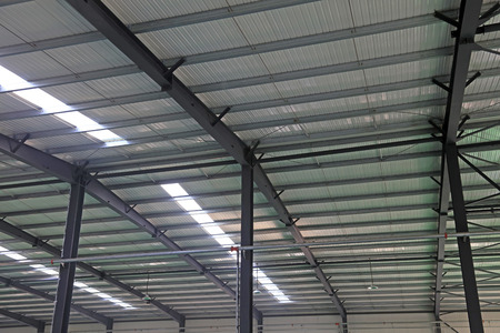 Steel beam frame of industrial building