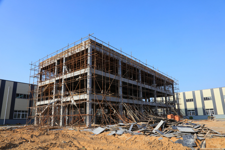 Unfinished construction site 에디토리얼