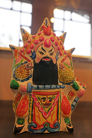 clay sculpture of Chinese traditional style