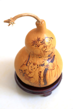 Gourd pyrographic artworks