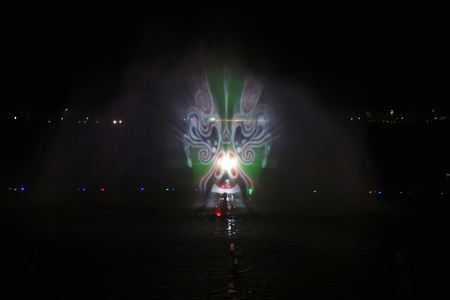 Beijing Opera on the water curtain Editorial