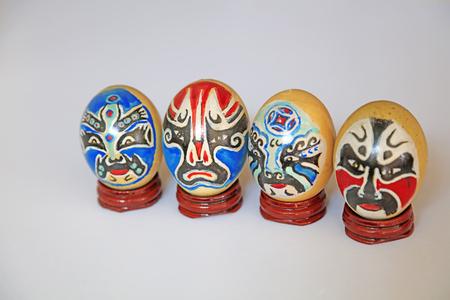 Egg carving craftwork Reklamní fotografie - 98174245