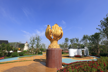 sculpture of the Bauhinia Flower Editorial