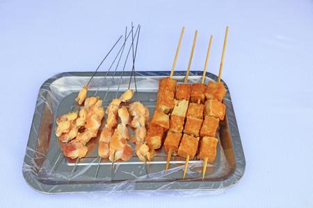 Meat and tofu sticks 版權商用圖片