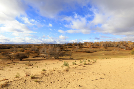 natural scenery of the princess lake of Ulan cloth in Inner Mongolia 写真素材