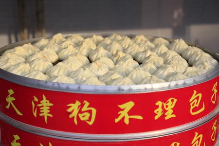 Tianjin Goubuli steamed bun, china Zdjęcie Seryjne - 101194554