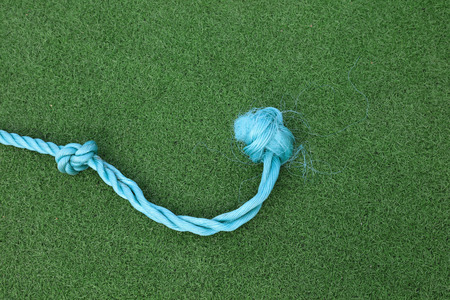 Nylon thread close-up