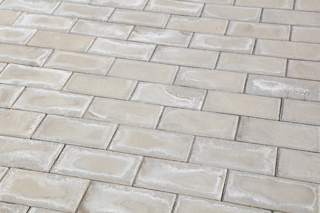 alkali stain on the cement floor tile
