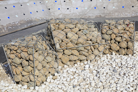 Pebbles piled together Stock Photo - 111012261