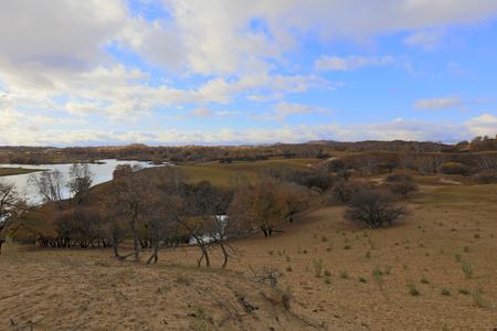 natural scenery of the princess lake of Ulan Buh in Inner Mongolia