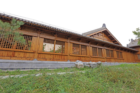 Chinese wooden building structure