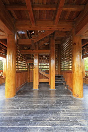 Architectural structure of Chinese style attic