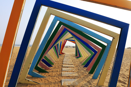 colorful frame structure