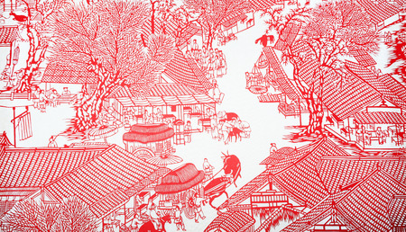 Chinese paper-cut crafts Stockfoto