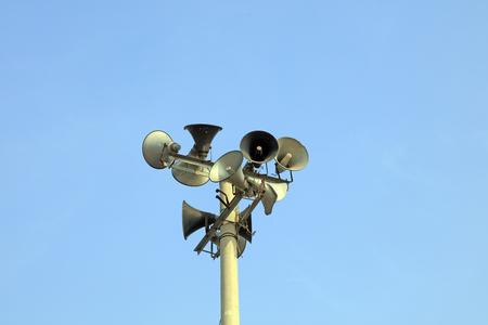 Big horn of China's rural communication equipment 版權商用圖片 - 113987985
