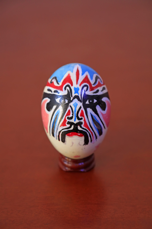 Craftwork of colored eggs