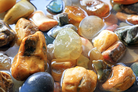 Wet agate stone